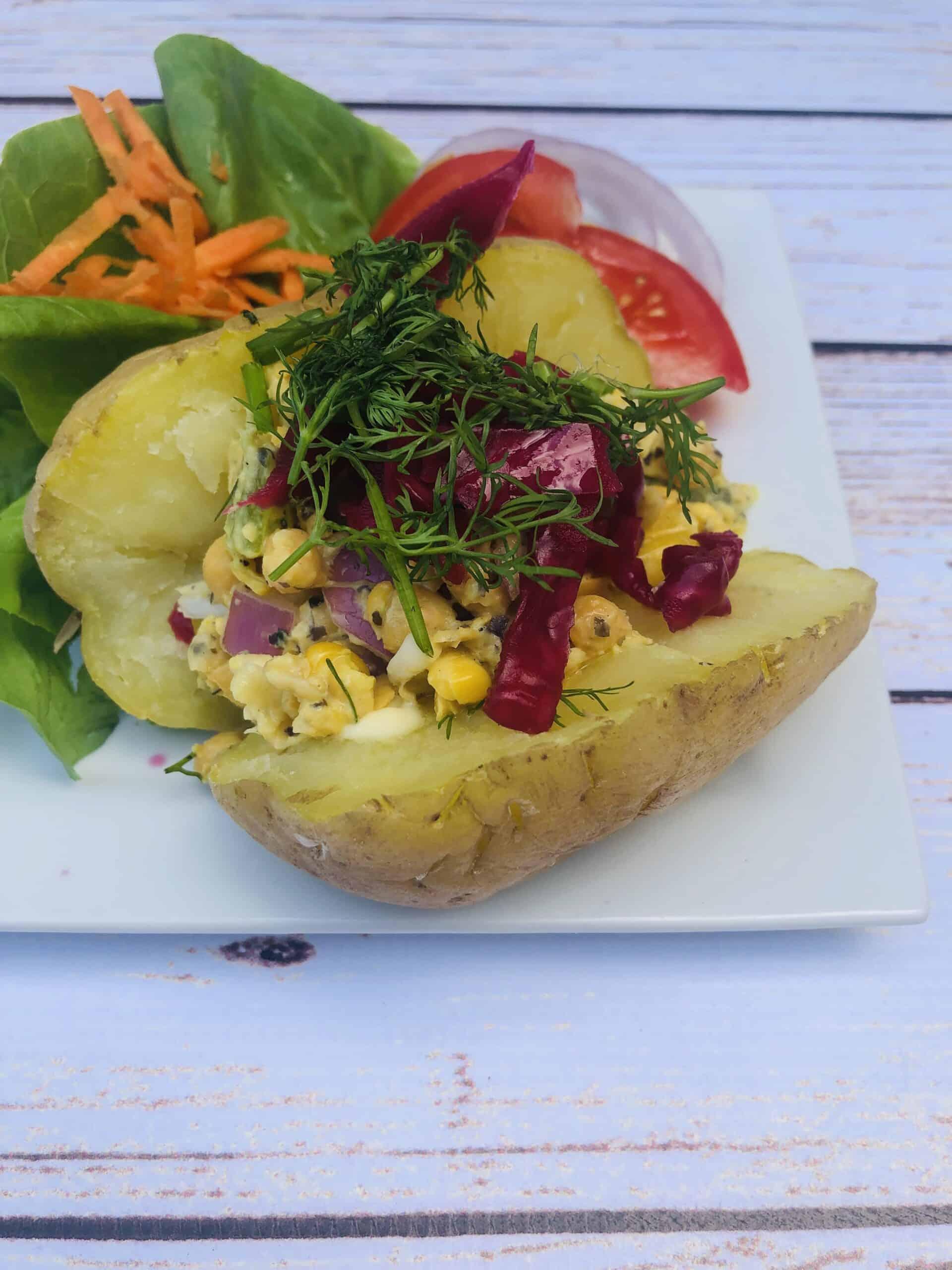 Vegan Jacket Potato | Vegan Baked Potato