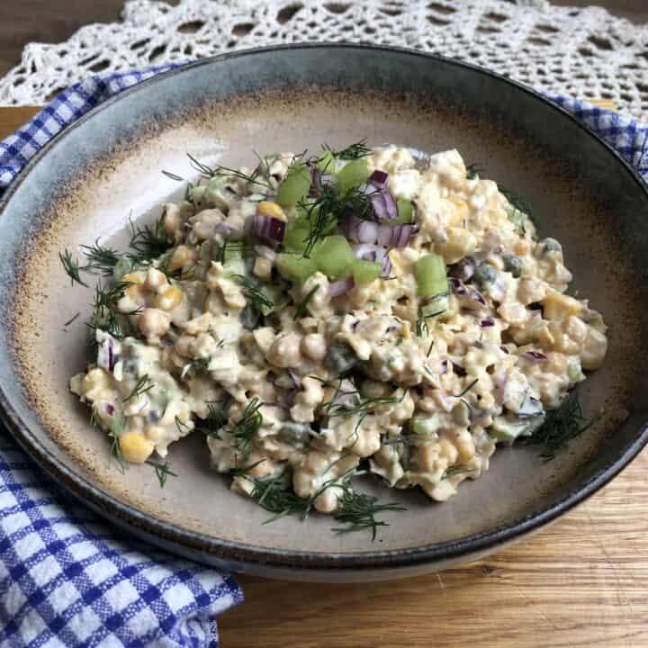 Creamy Chickpea Tuna Salad | Vegan Tuna Salad Recipe