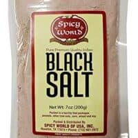 Spicy World Kala Namak Indian Black Salt 7 Oz - Unrefined, Pure & Natural - Non-Gmo