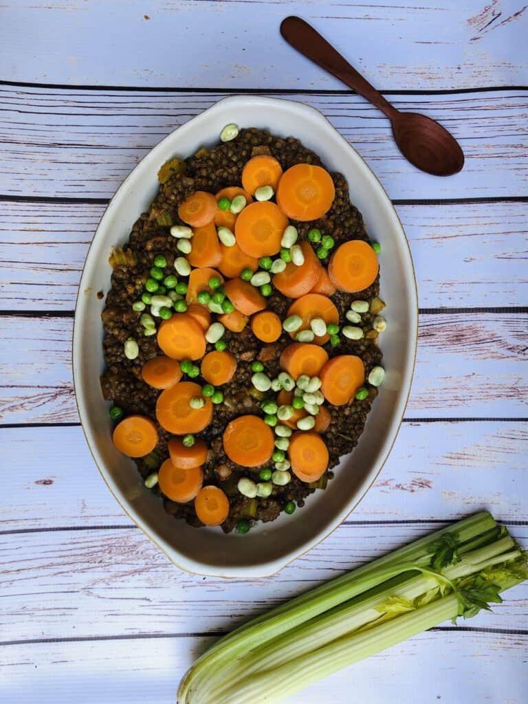 lentil bake vegan