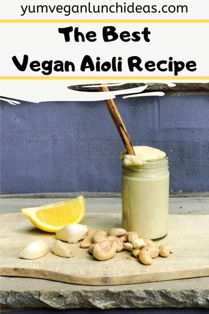 vegan aioli recipe
