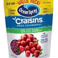 Craisins Ocean Spray Dried Cranberries, Reduced Sugar, 20 Ounce Value Pack