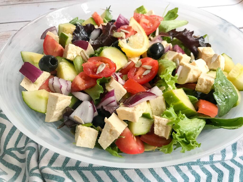 vegan greek salad recipe