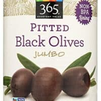 365 Everyday Value, Pitted Black Olives, Jumbo, 5.75 oz