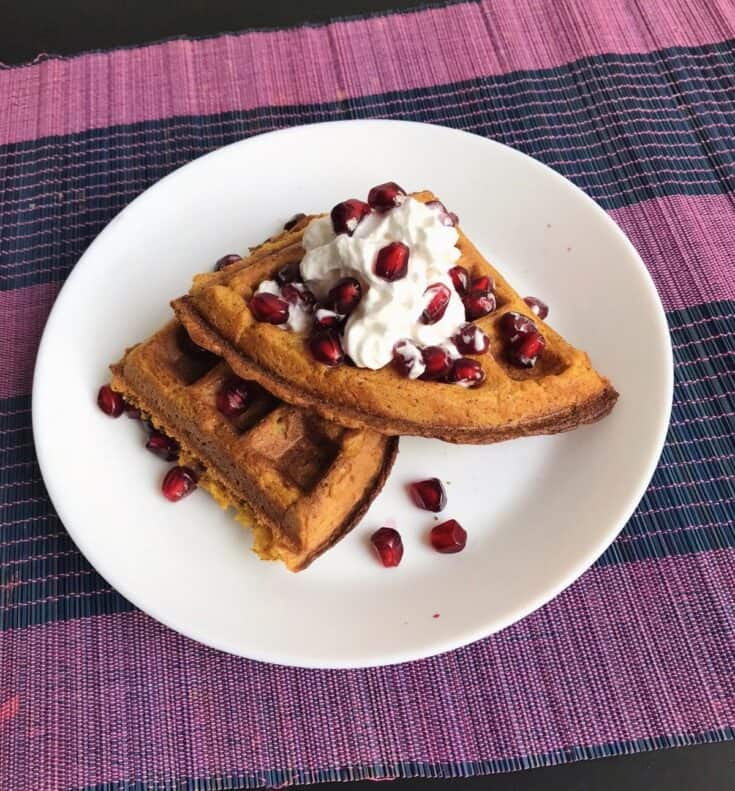 waffle recipes without milk - sweet potato waffles vegan
