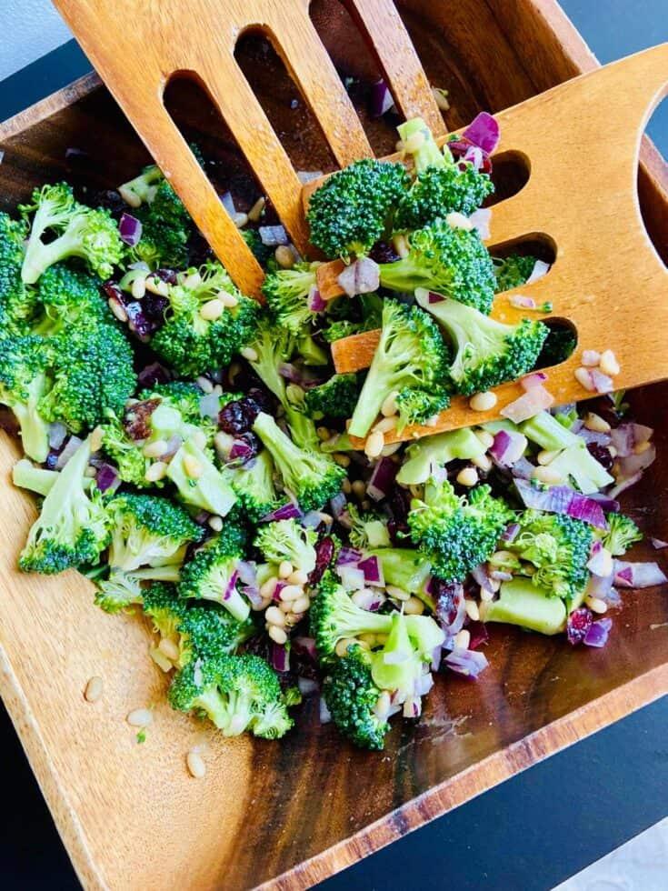Healthier Broccoli Salad - healthy broccoli recipes