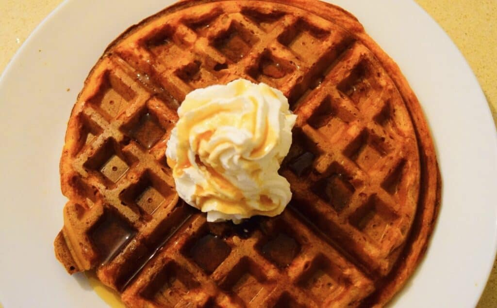 Vegan Sweet Potato Waffles Vegan