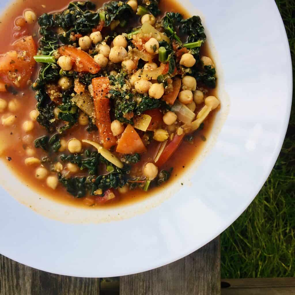 Mediterranean Soup - Veganuary Meal Plan