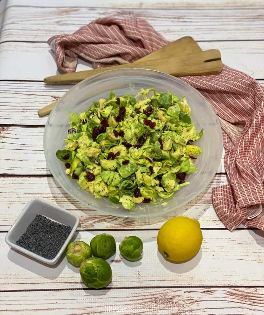 vegan brussel sprout salad recipe 4