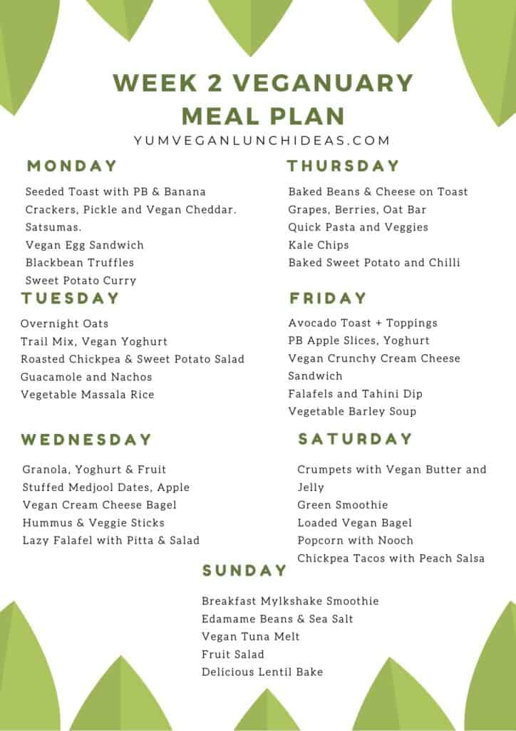 Easy Vegan Meal Plan
