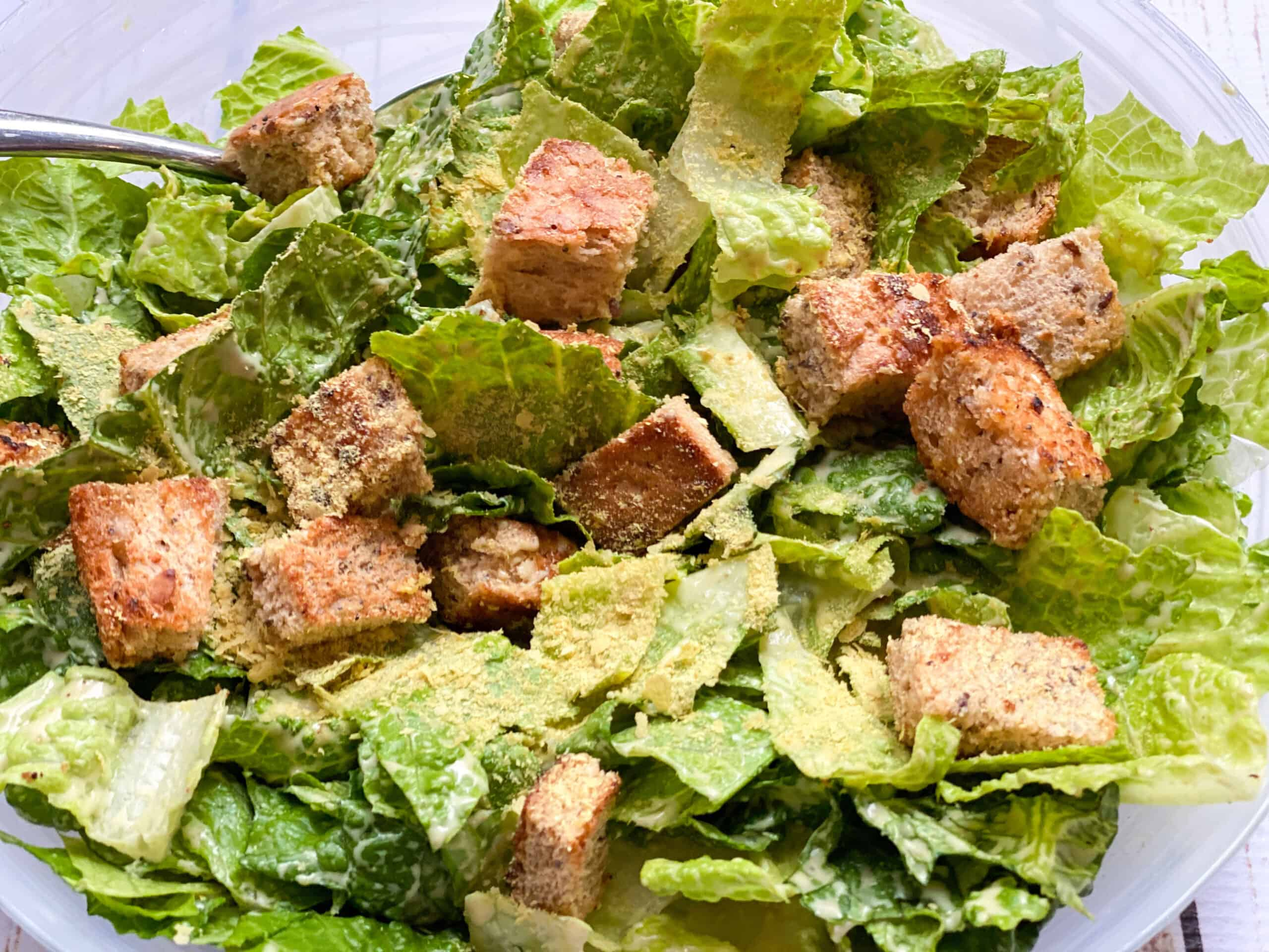 Crowd Pleasing Vegan Caesar Salad Recipe