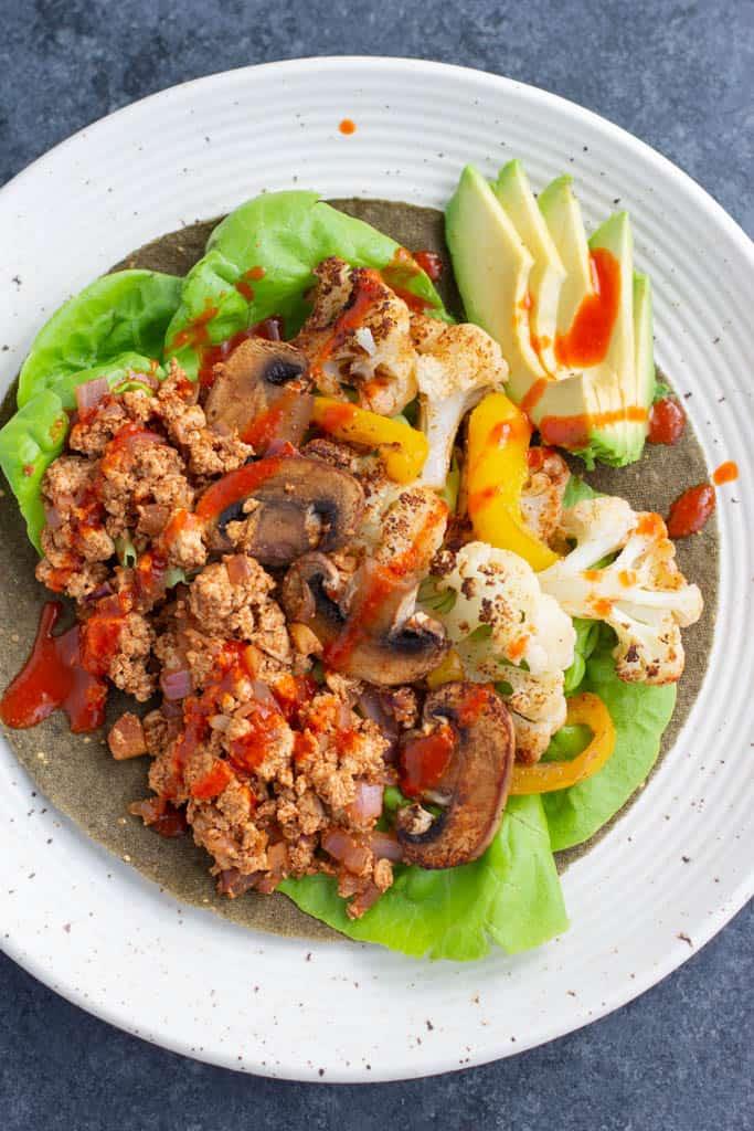 Vegan Roasted Vegetable Tofu Tacos