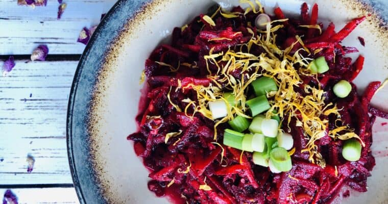 Easy Beetroot Coleslaw Recipe | Beet Slaw Recipe