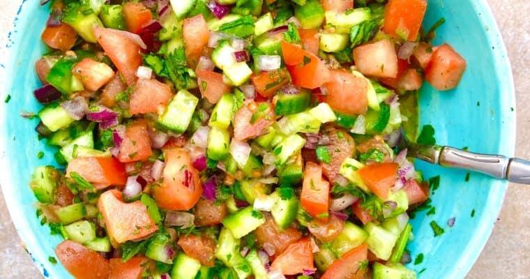 Israeli Salad Recipe (Jerusalem Salad)