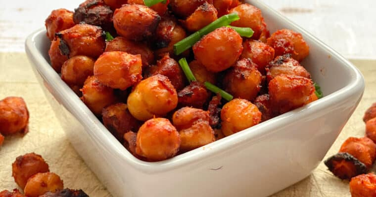 Vegan Bacon Flavour Roasted Chickpeas