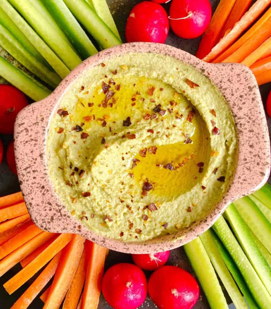 hummus - split pea vegan recipe (1)