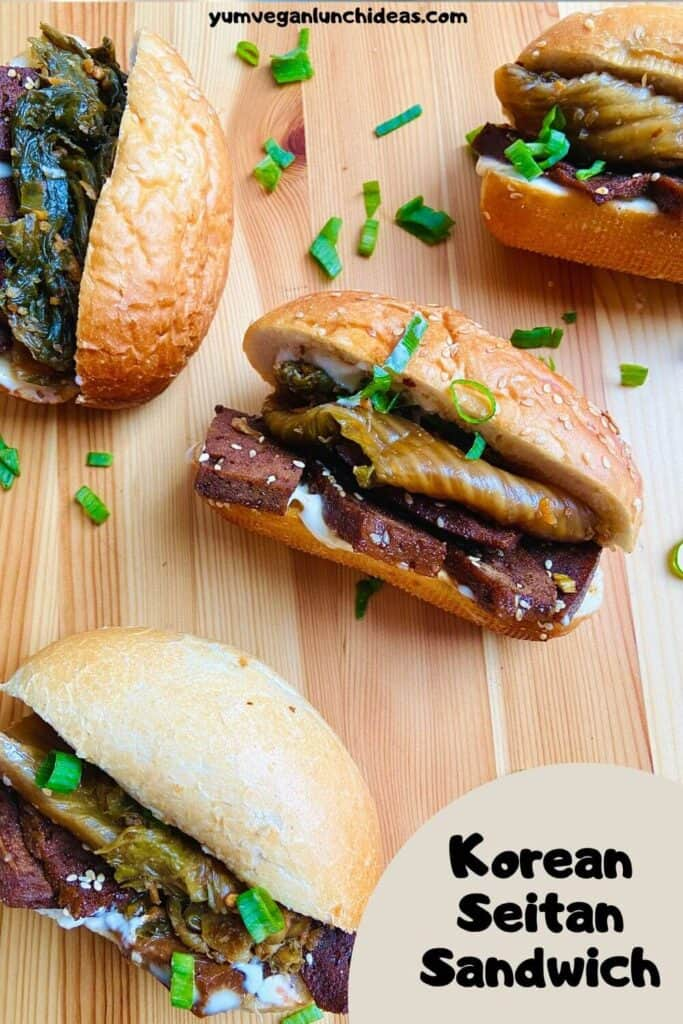 Korean Seitan Sandwich Pin 2