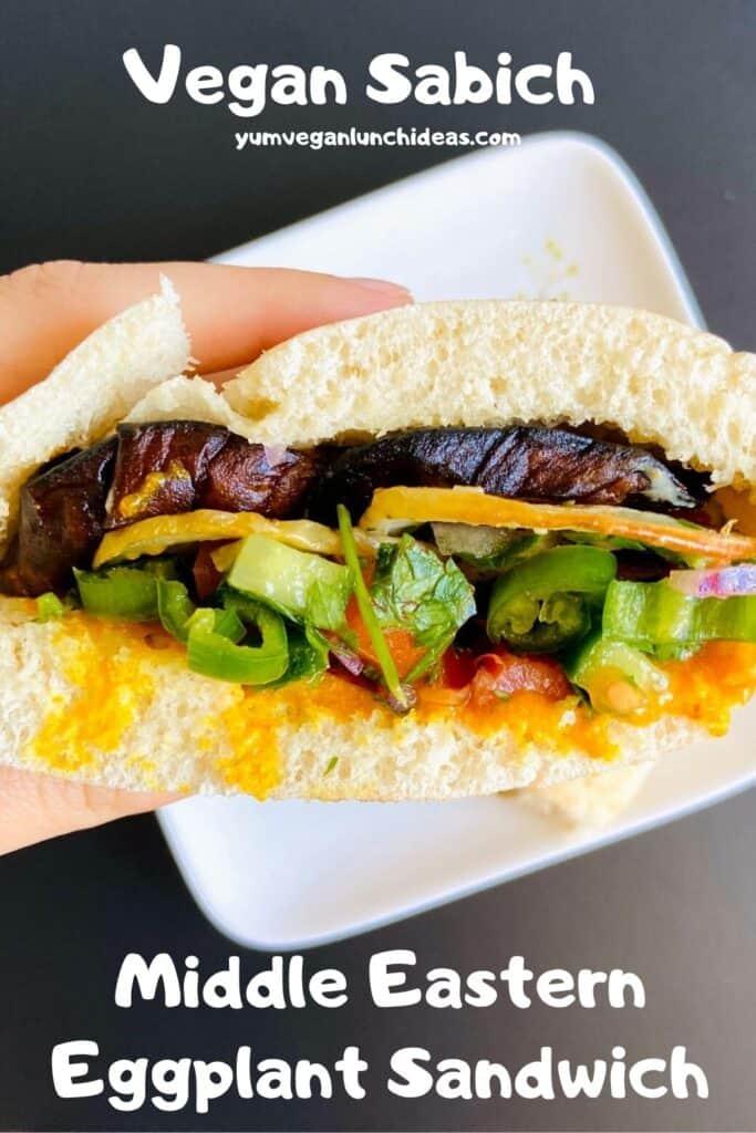 Vegan Sabich Eggplant Sandwich Pin 4
