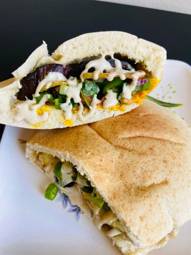 vegan eggplant dishes (vegan Sabich)