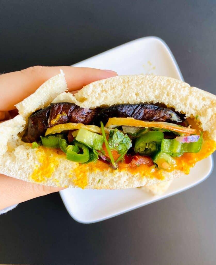 vegan sandwich ideas - Sabich