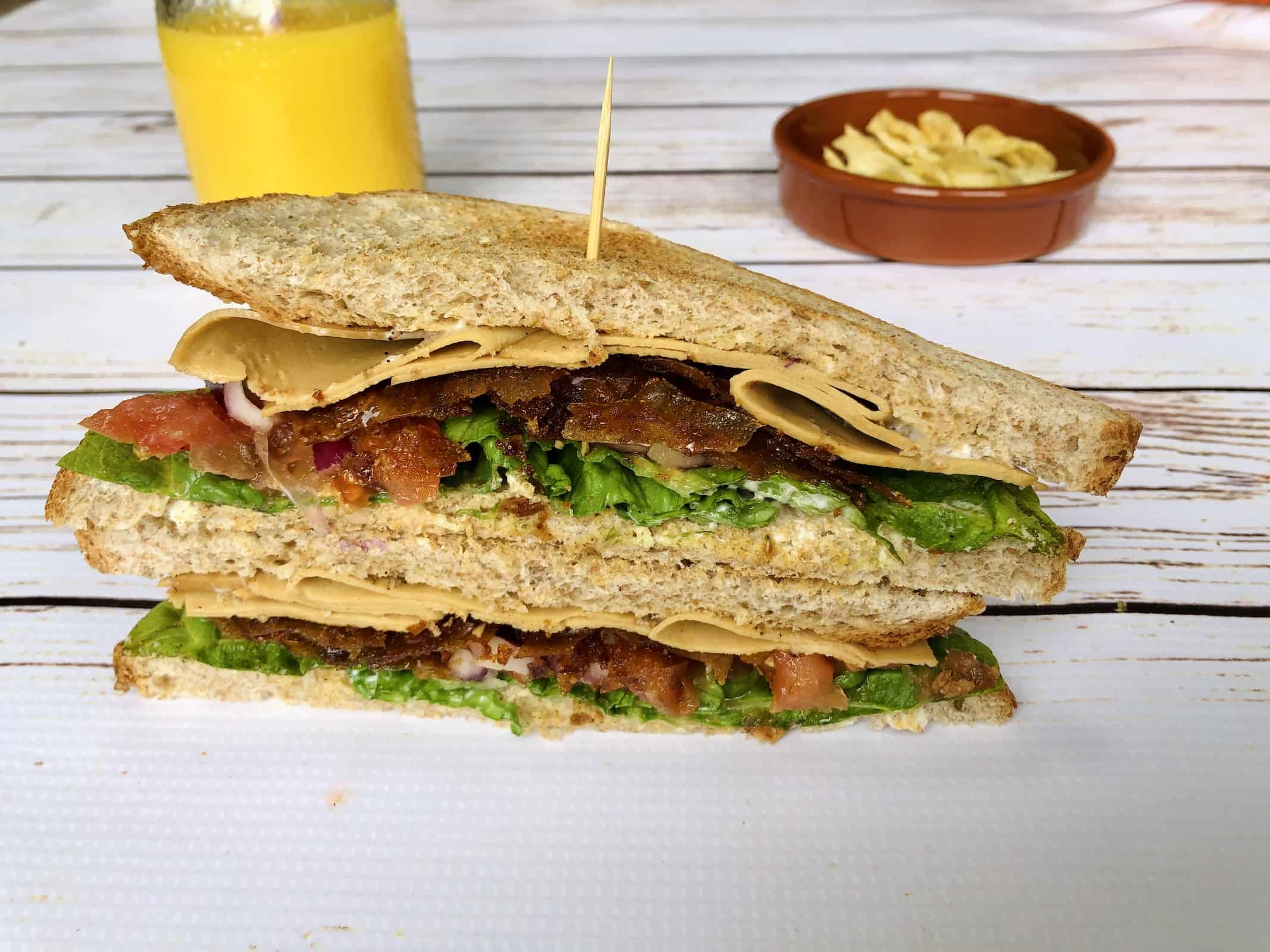 Vegan Club Sandwich Recipe