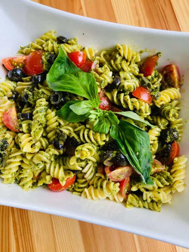cold vegan pasta salad