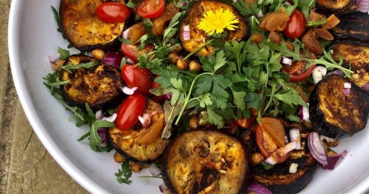 BBQ Moroccan Eggplant Salad | BBQ Eggplant Recipe