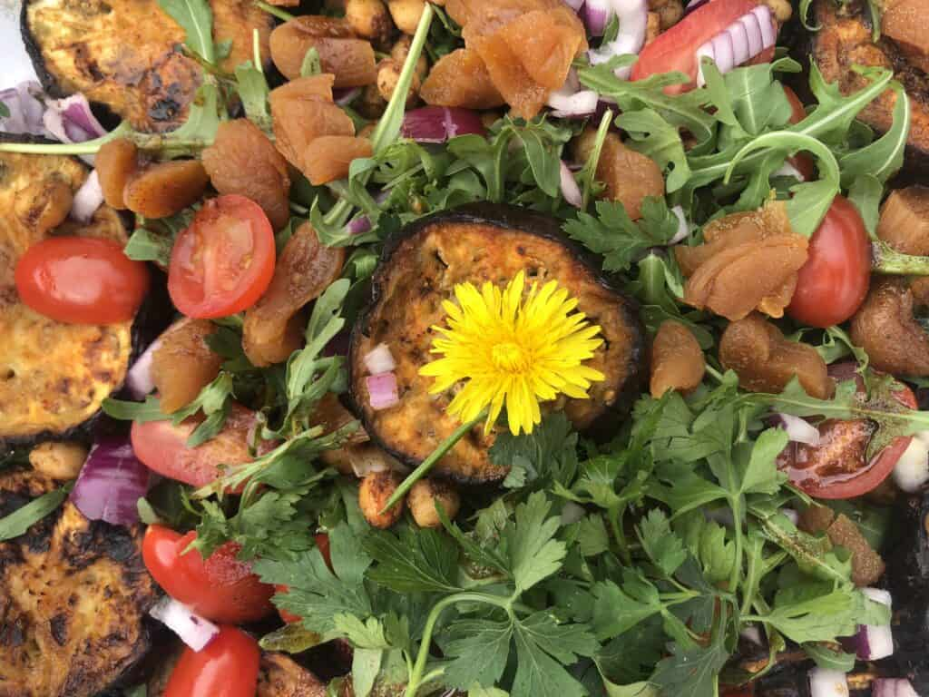 moroccan aubergine salad recipe