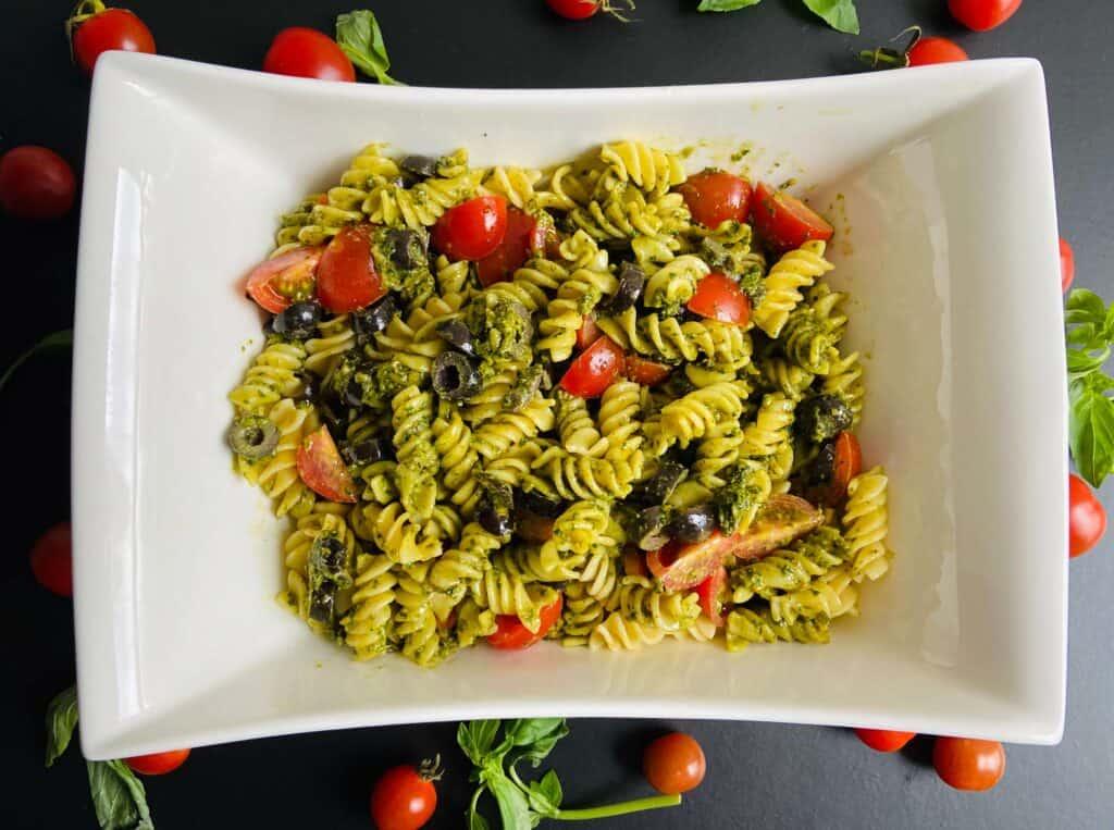 pesto pasta salad vegan