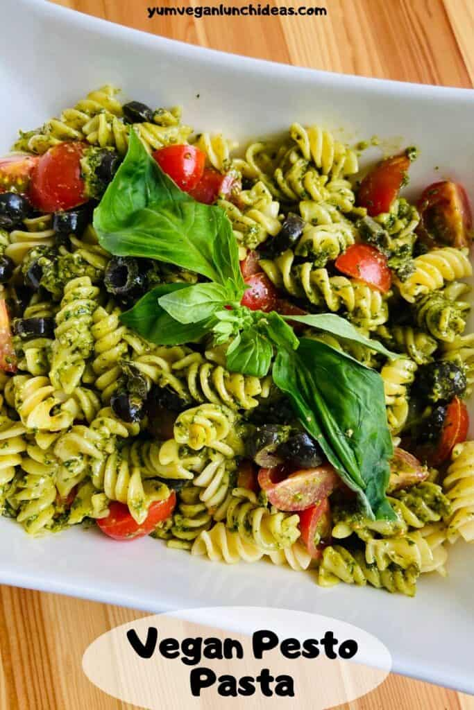 vegan pesto pasta pin