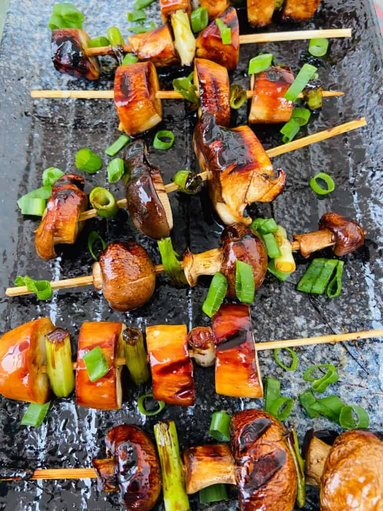 vegan yakitori skewers