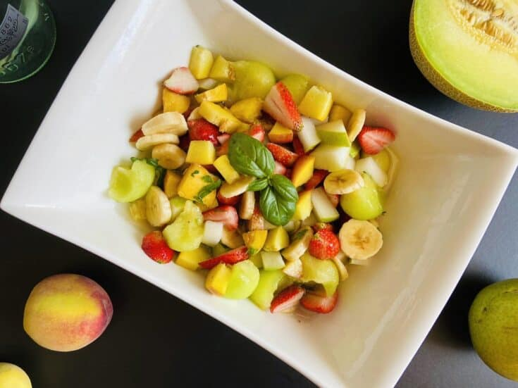 Drunken Fruit Salad - fruit Salad with Alcohol