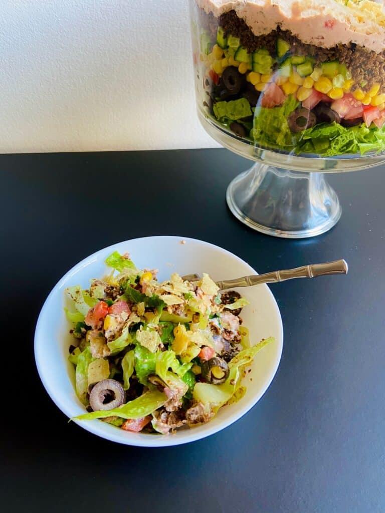 meat free taco salad