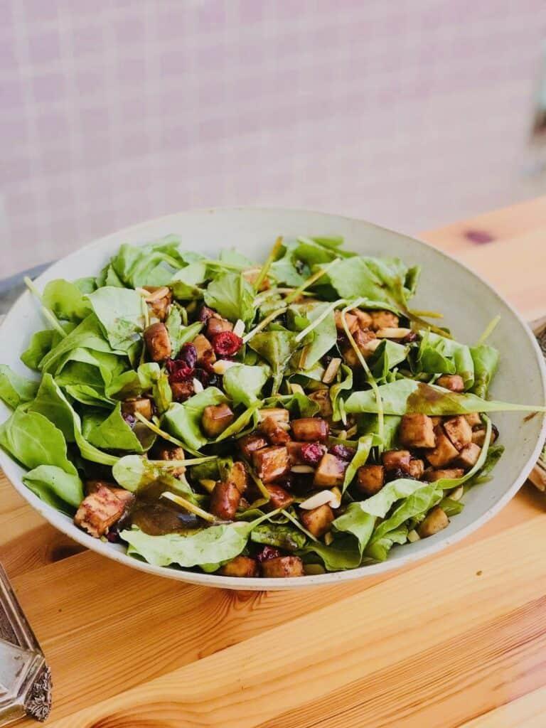 vegan spinach salad recipe