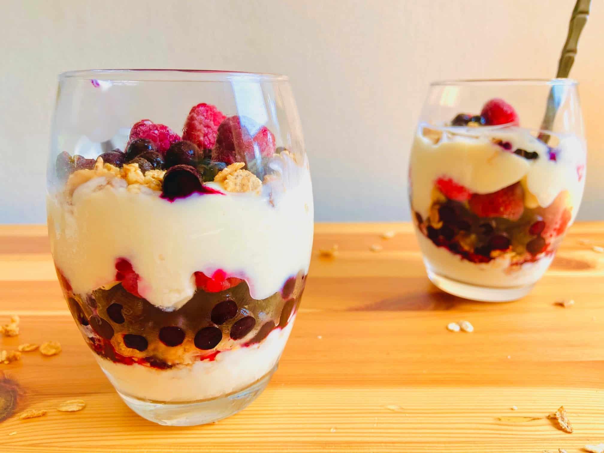 Berry Patriotic Vegan Yogurt Parfait