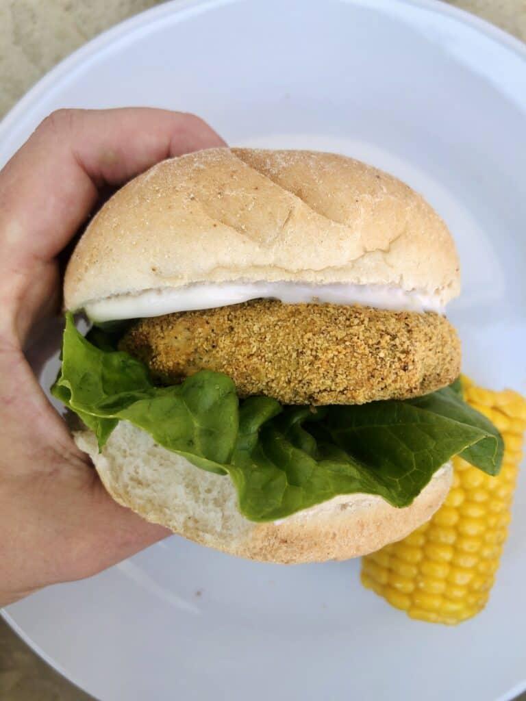 vegetarian chicken sandwich
