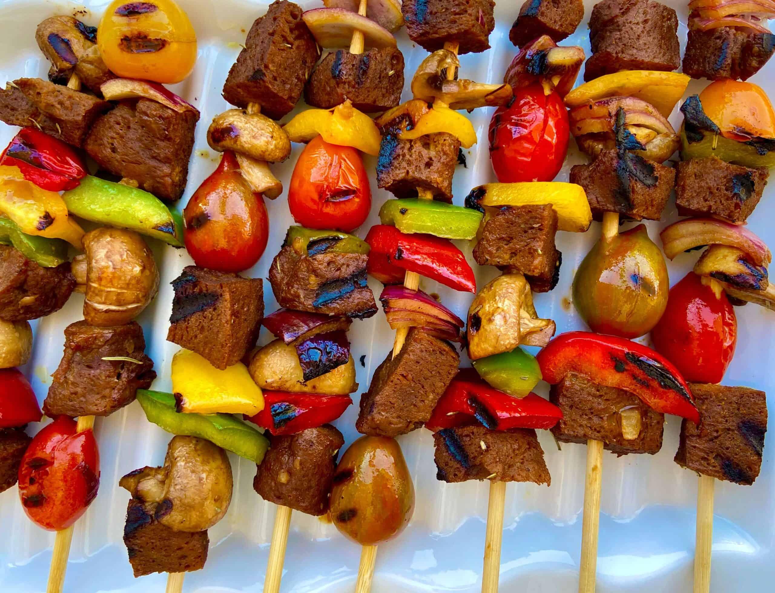 Beef Seitan Kebab Recipe – Vegan Kebabs