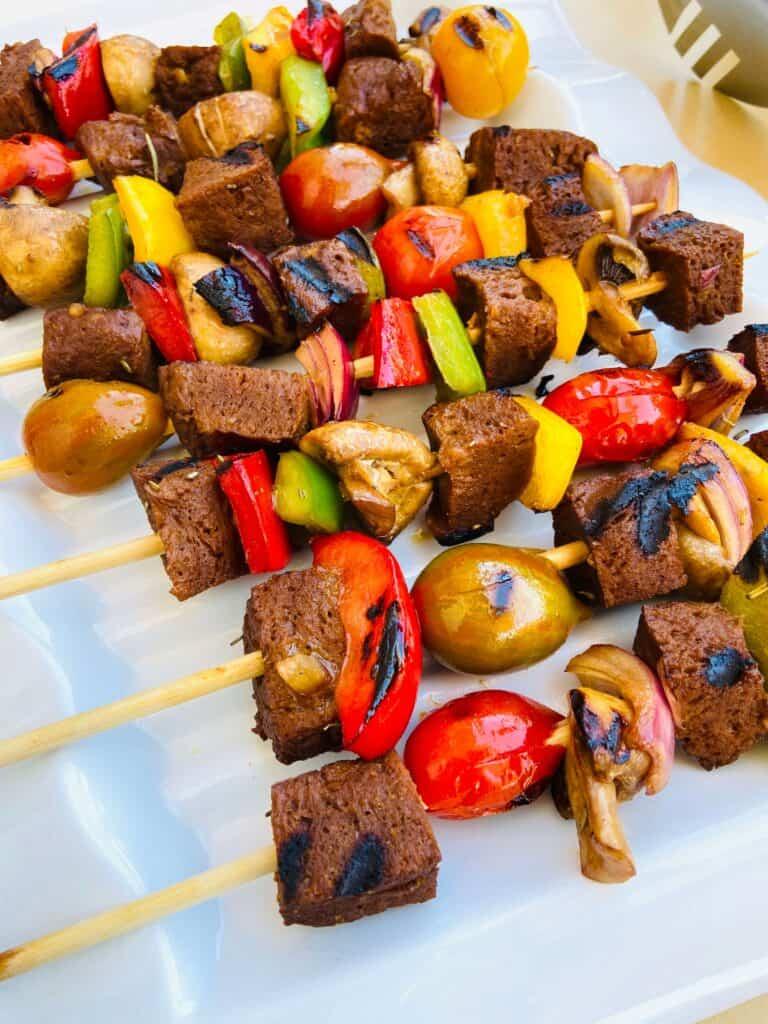 seitan vegan recipe - vegan kebabs