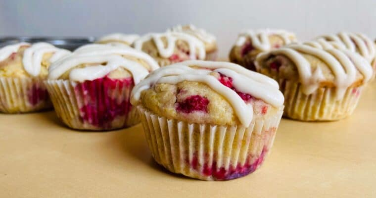 Vegan Raspberry Muffins with Cream Cheese Frosting