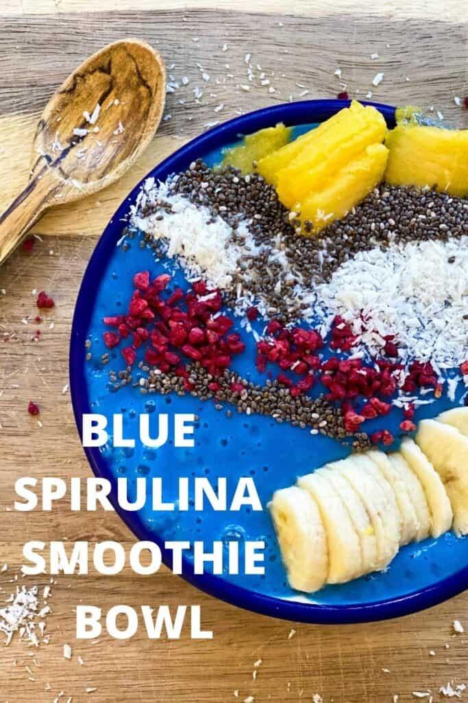 blue smoothie bowl