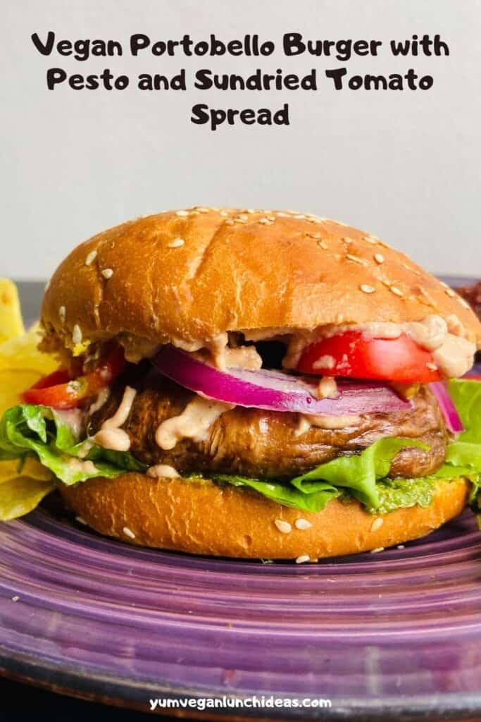 vegan portobello burger pin2