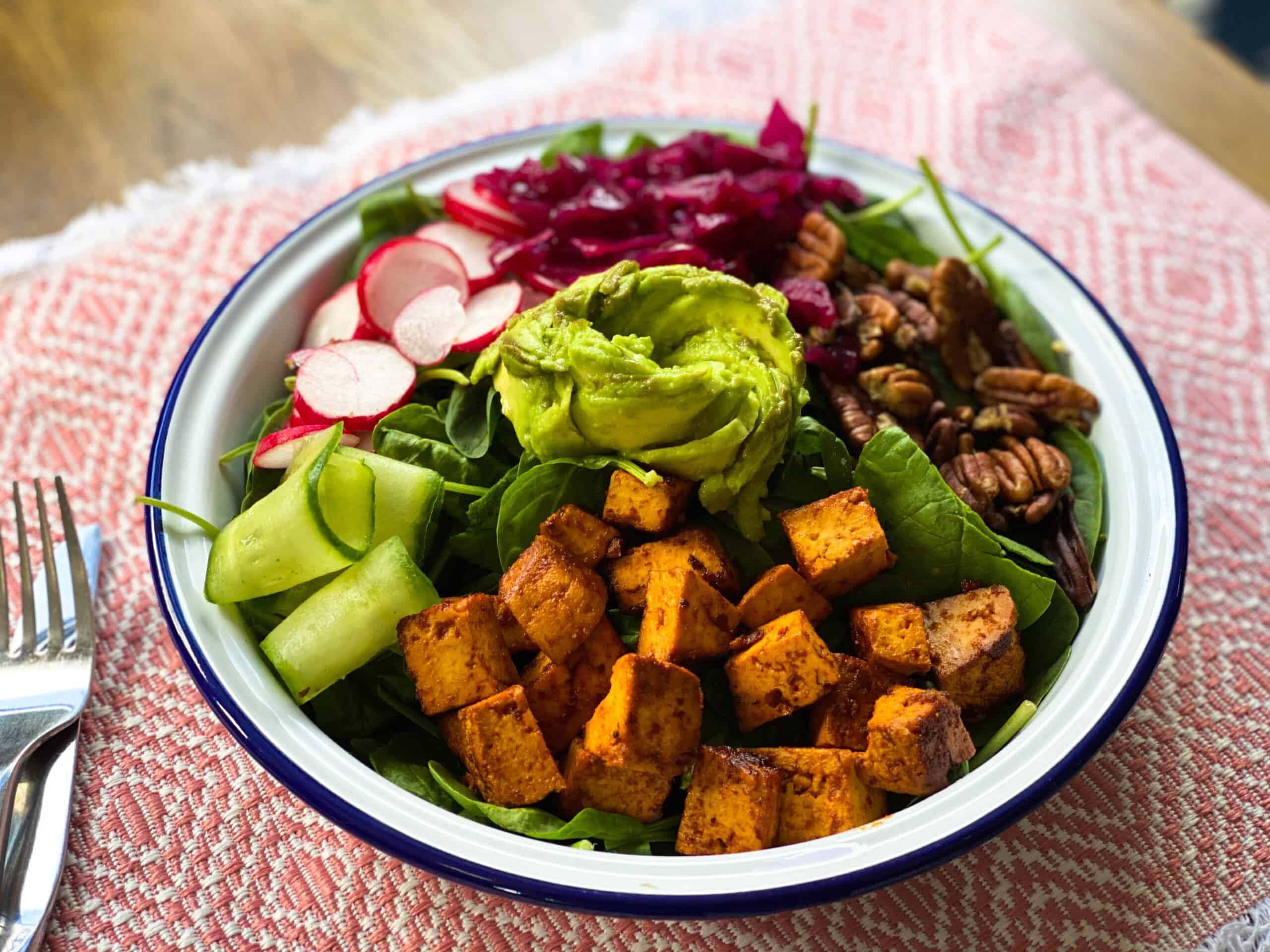 Tofu Buddha Bowl Salad Recipe