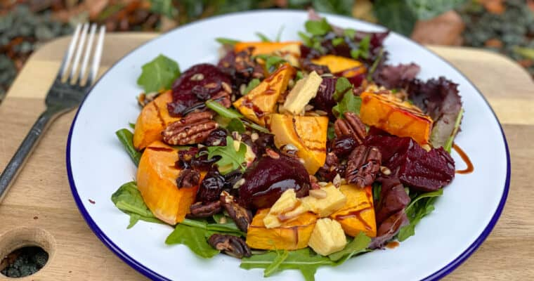 Pumpkin Beetroot Salad