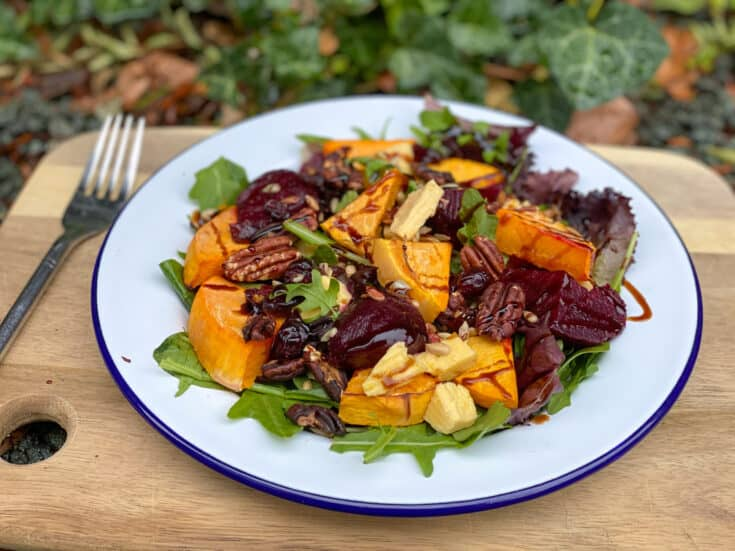 pumpkin and beetroot salad