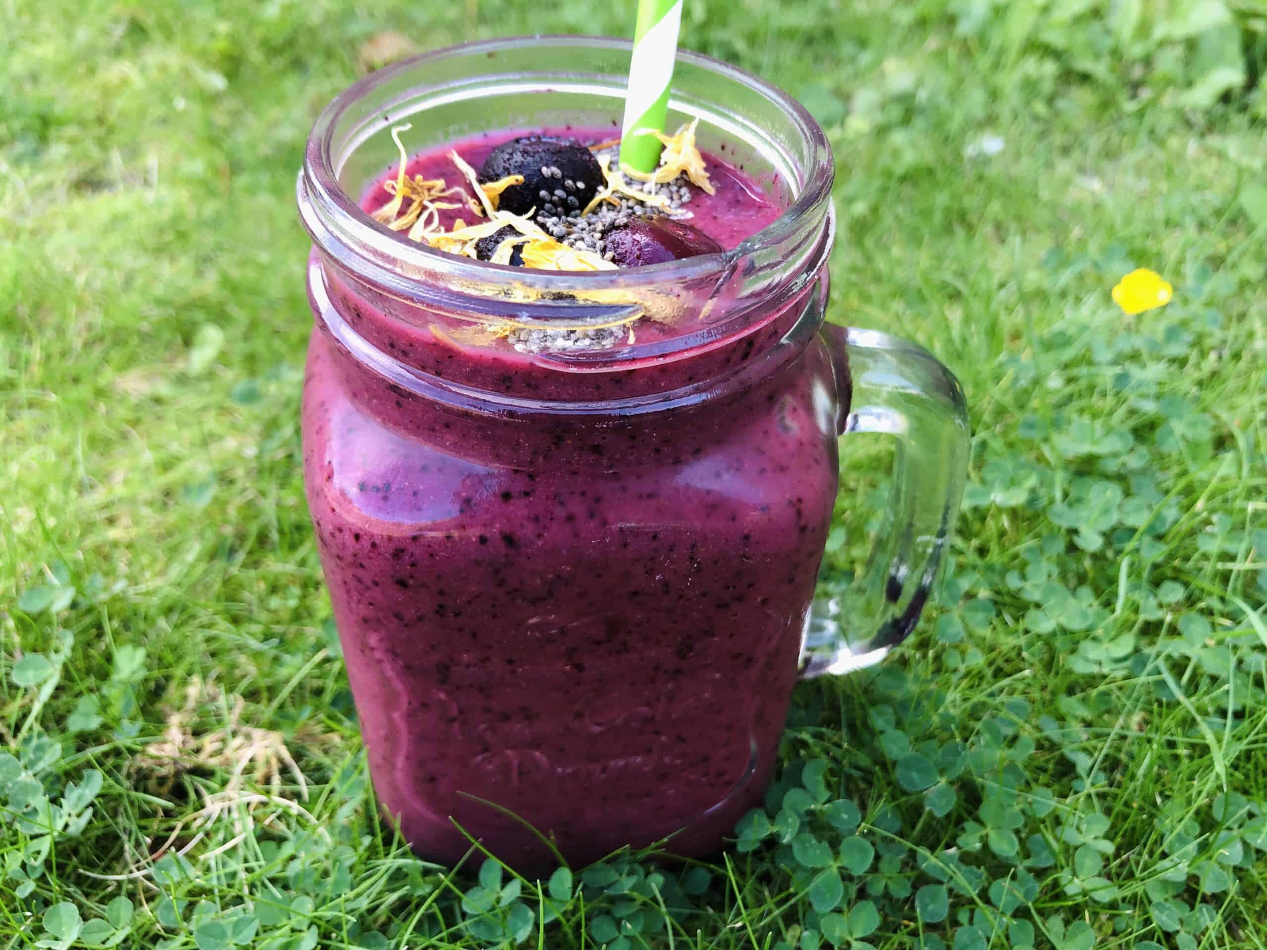 pear blueberry smoothie