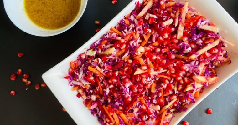 Colorful Pomegranate Coleslaw