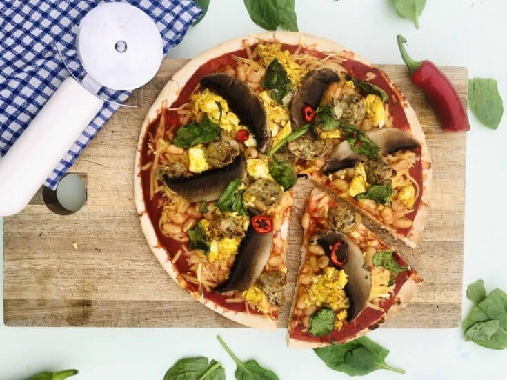 veggie breakfast pizza