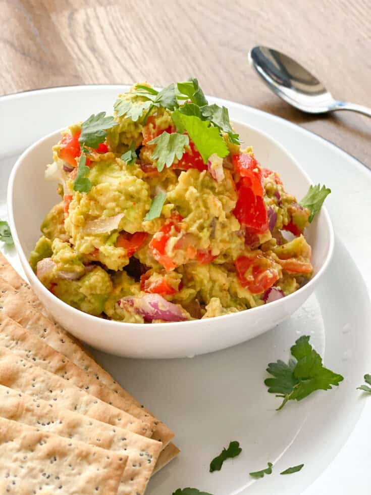 homemade vegan guacamole