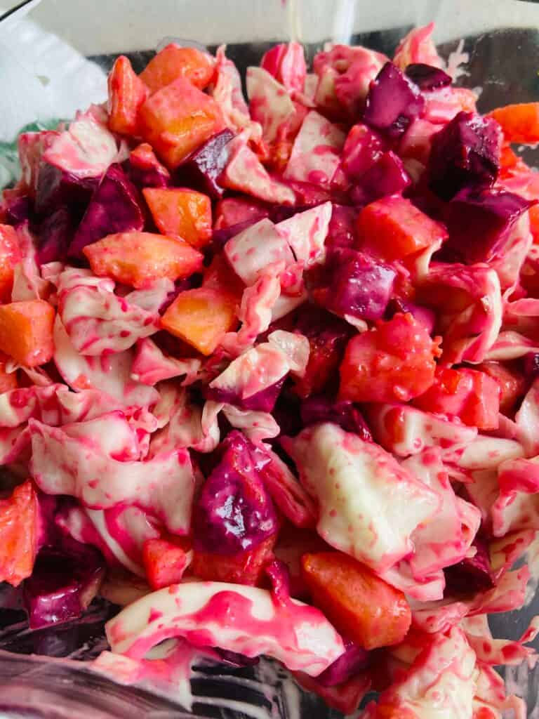 cabbage and beetroot salad