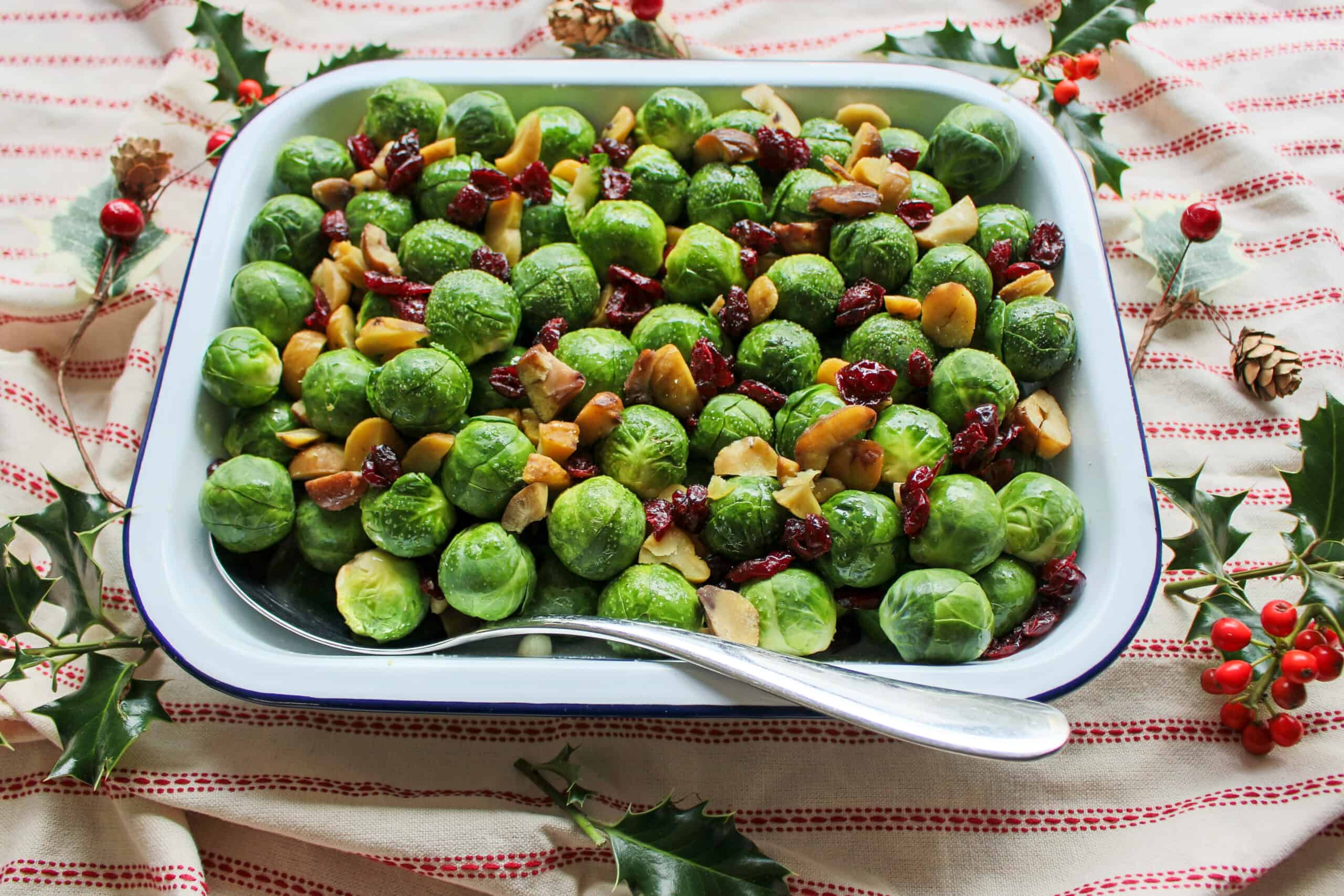 christmas vegan brussel sprout recipe